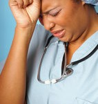 Young nurse having a bummer moment at work